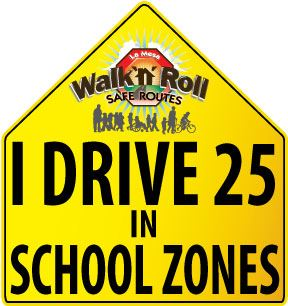 25 in School Zones